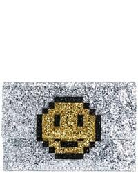 Anya Hindmarch Pixel Smiley Clutch