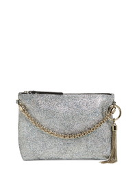 Jimmy Choo Callie Holographic Leather Clutch