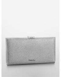 Calvin Klein Clea Saffiano Leather Framed Continental Clutch