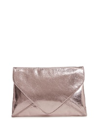 Trouve Chelsea28 Jade Crackle Metallic Clutch