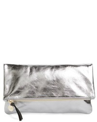 Clare v maison metallic leather foldover clutch metallic medium 3752758