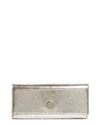 Jimmy Choo Fie Metallic Leather Clutch