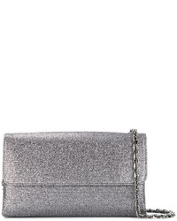 Casadei Foldover Glittered Clutch Bag