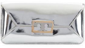 4de1e096e16 ... Leather Clutches Tory Burch Gigi Metallic Clutch Bag Silver ...