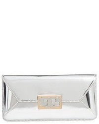 Gigi metallic leather clutch metallic medium 1139251