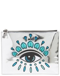 Icons eye faux leather pouch metallic medium 5254698