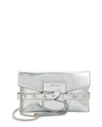 Jimmy Choo Lexi Metallic Leather Clutch