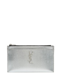 Saint Laurent Metallic Leather Pouch