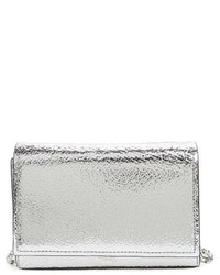 Michl kors yasmeen small metallic leather clutch metallic medium 3943965