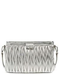 Miu Miu Small Matelasse Leather Clutch