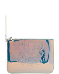 Kenzo White Iridescent Large Preppy A4 Pouch