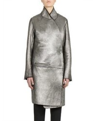 Long sleeve leather coat medium 873116