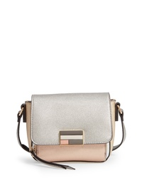 Sondra Roberts Colorblock Metallic Faux Leather Crossbody Bag