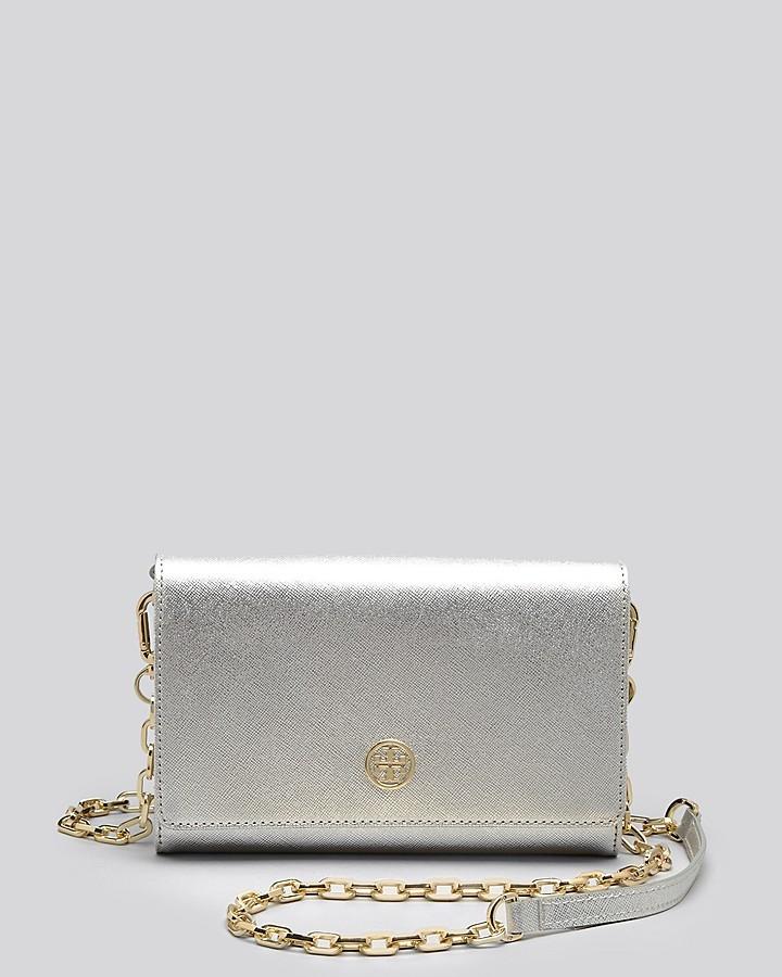 ... Bags Tory Burch Crossbody Robinson Metallic Wallet On A Chain ... 794648cf27361