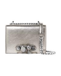Alexander McQueen Jewelled Satchel Embellished Metallic Textured Leather Shoulder Bag