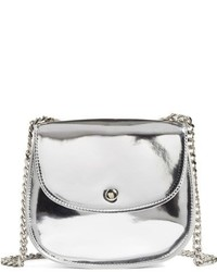 Metallic faux leather crossbody bag metallic medium 951859