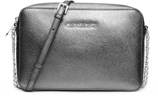 4b984290f04a Michael Kors Michl Kors Jet Set Large Metallic Leather Crossbody, $148 | Michael  Kors | Lookastic.com