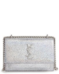 Mini sunset crackle metallic leather crossbody bag medium 951591