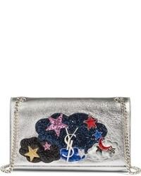 Saint Laurent Medium Kate Love Patchwork Leather Shoulder Bag None