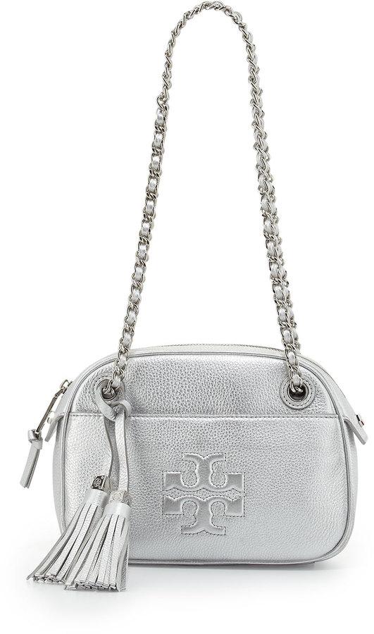 7d5e55947 ... Leather Crossbody Bags Tory Burch Thea Chain Strap Crossbody Bag Silver  ...
