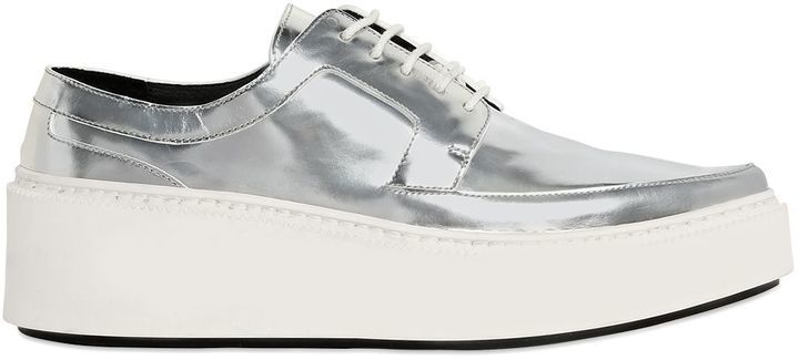 Kenzo 40mm Mirror Leather Derby Lace Up Shoes