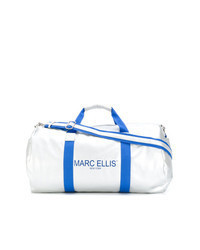 Silver Leather Duffle Bag