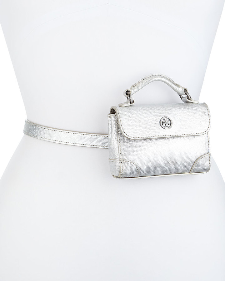 10d2ce8ee2e Robinson Metallic Belt Bag Silver