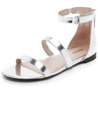 DKNY Fiona Ankle Strap Flat Sandals