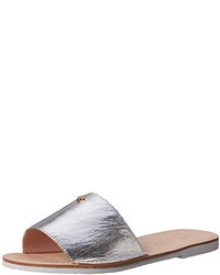 c7127fb5e2f3 Women s Silver Leather Flat Sandals by Kate Spade