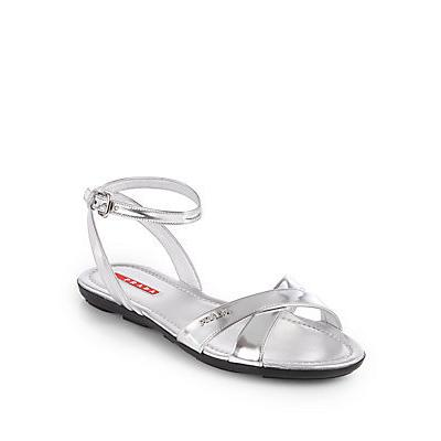 prada womens wallet - Prada Metallic Leather Ankle Strap Sandals | Where to buy & how to ...