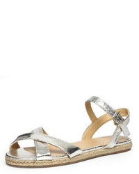 Dorothy Perkins Silver Espadrille Flat Sandals