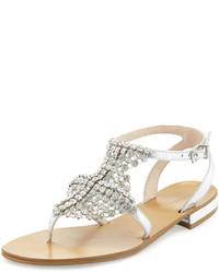 Billie chain mail t strap gladiator sandal silver medium 635956