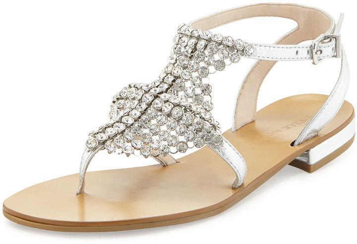 20bde4b2154 ... Pelle Moda Billie Chain Mail T Strap Gladiator Sandal Silver ...