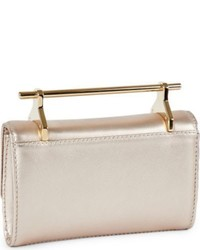 M2Malletier Mini Fabricca Metallic Leather Bag