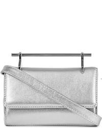 M2Malletier Mini Fabricca Metallic Leather Bag