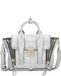 Pashli mini leather satchel bag silver medium 72146