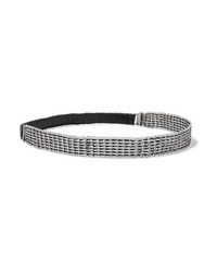 Saint Laurent Chainmail And Faux Leather Headband