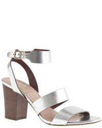 J.Crew Aubrey Mirror Metallic Midheel Sandals
