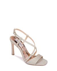 Badgley Mischka Collection Badgley Mischka Ebiza Glitter Cross Sandal