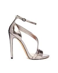 Carvela Gosh Gunmetal Single Sole Heeled Sandals