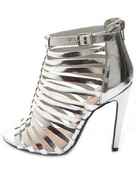Charlotte Russe Caged Metallic Single Sole Heels