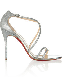 Christian Louboutin Gwynitta 100 Glitter Finished Leather Sandals