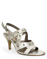 Tahari Claire Leather Open Toe Slingback Sandals