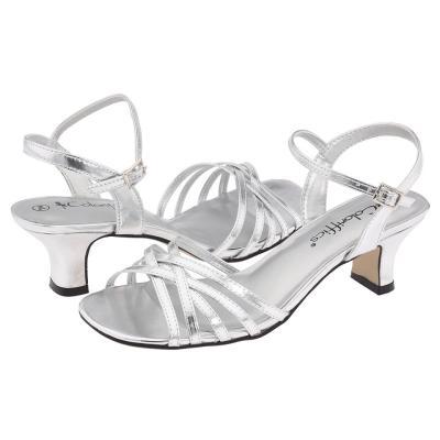 Silver Metallic Dress Deena Dress Sandals Silver