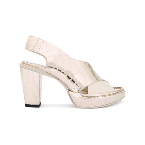 Rocco P. Crocodile Effect Sandals