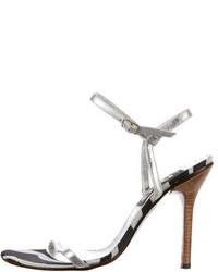 D&G Metallic Sandals