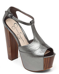Jessica Simpson Dany Metallic T Strap Platform Sandals