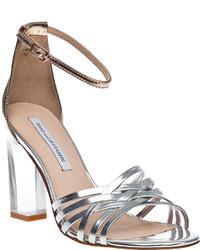 Diane von Furstenberg Priene Evening Sandal Silver Multi Leather