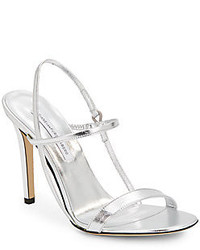 Diane von Furstenberg Ulla Metallic Leather Sandals