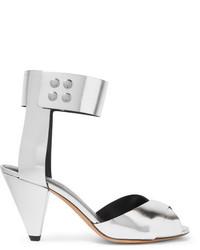 Etoile Isabel Marant Isabel Marant Toile Meegan Metallic Leather Sandals Silver